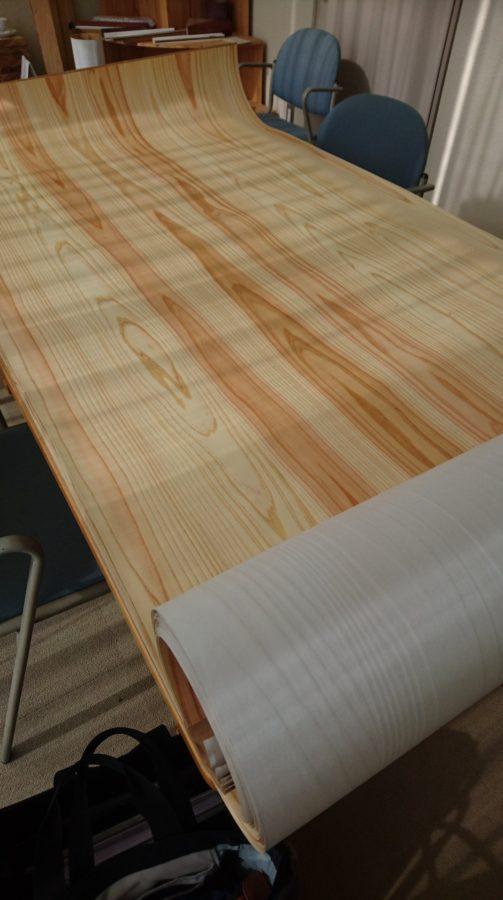天然木シート板目ランダム