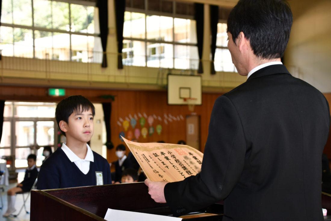 川上小学校卒業式